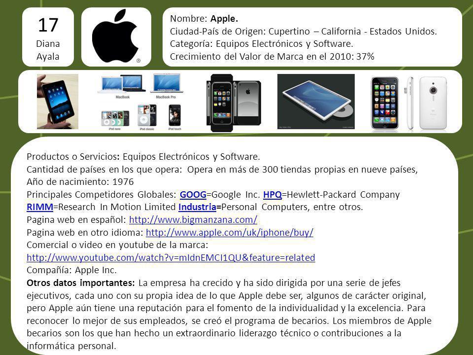17 logo Diana Ayala Nombre: Apple.
