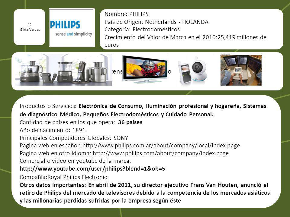 Imágenes del producto o servicio