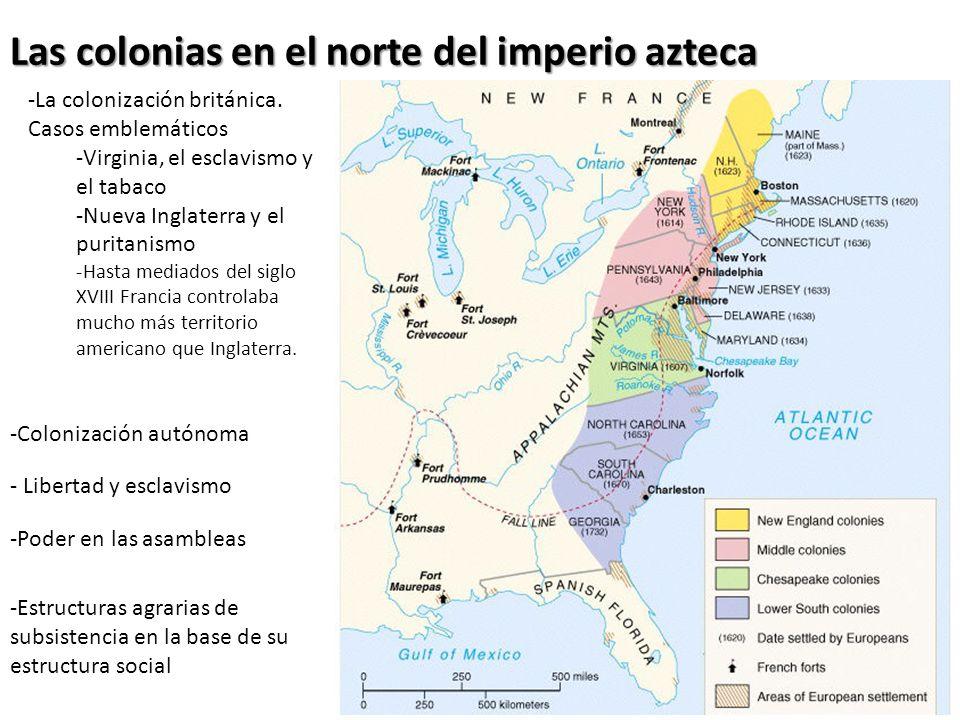 Las colonias en el norte del imperio azteca