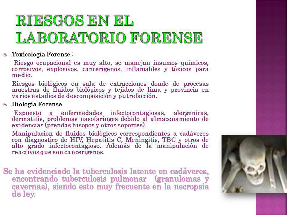 Riesgos en el laboratorio forense