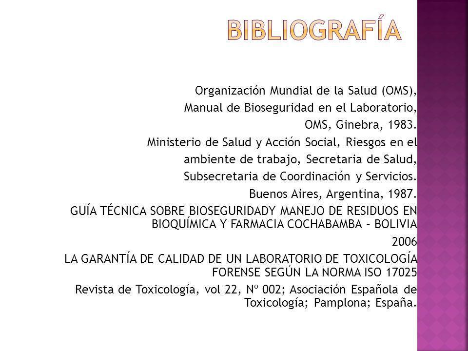 bibliografía Organización Mundial de la Salud (OMS),