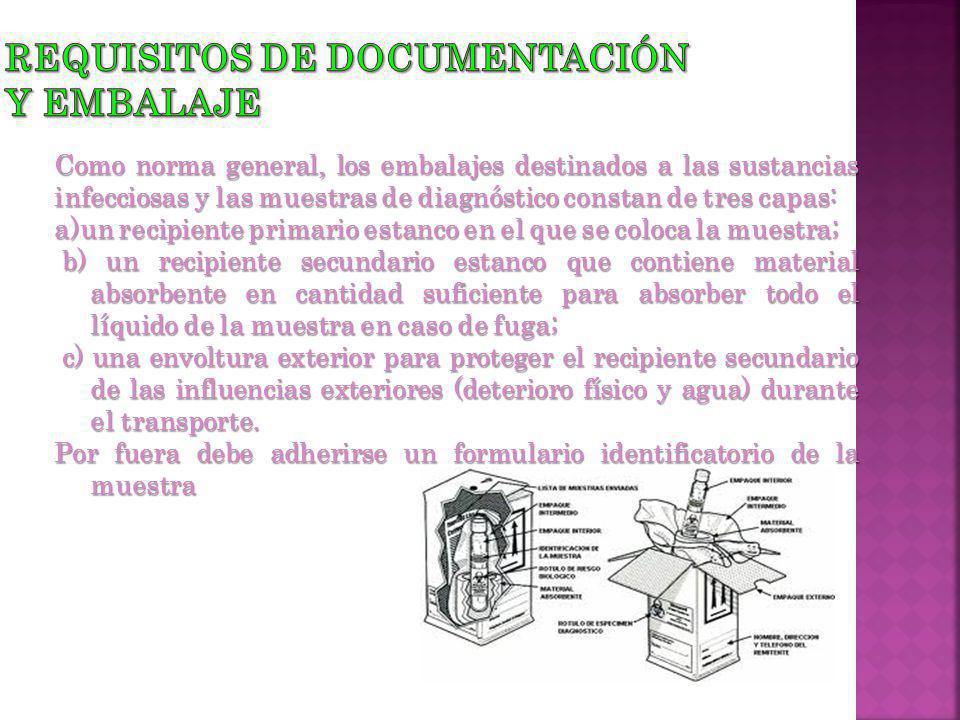 Requisitos de documentación y Embalaje