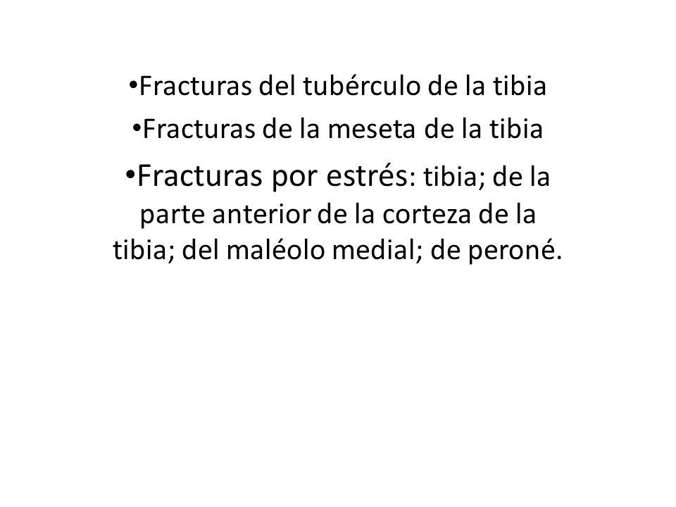 Fracturas del tubérculo de la tibia