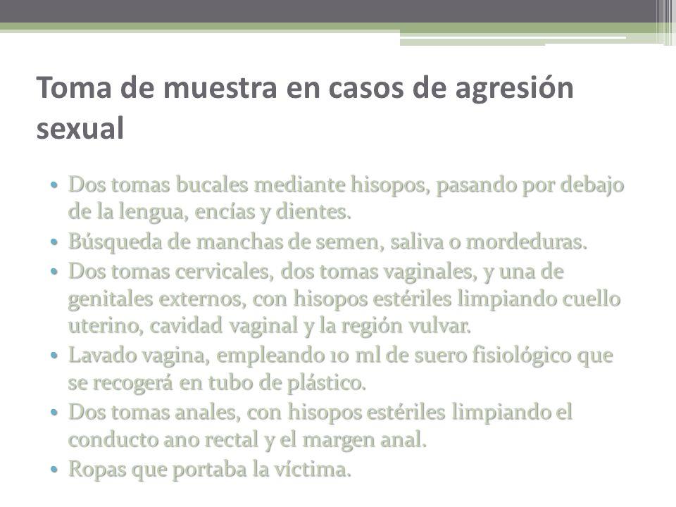 Toma de muestra en casos de agresión sexual