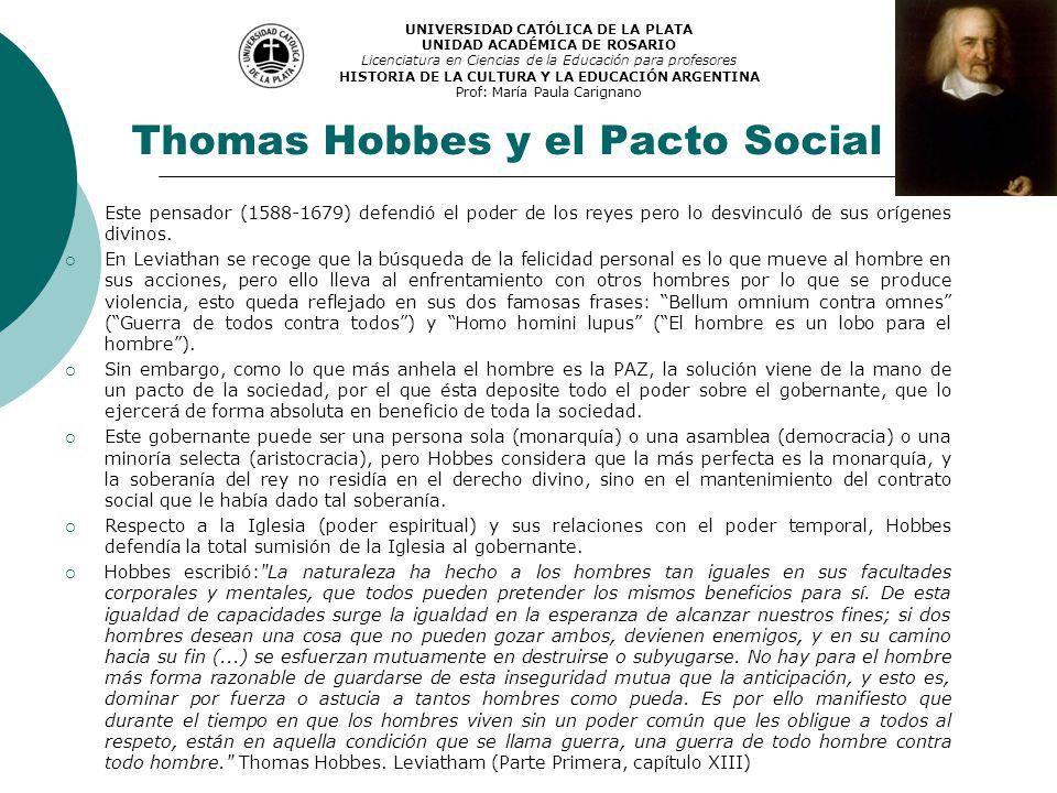 Thomas Hobbes y el Pacto Social