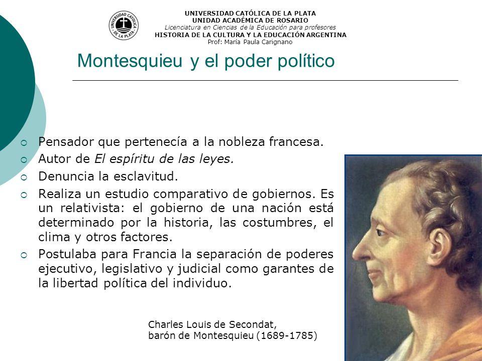 Montesquieu y el poder político