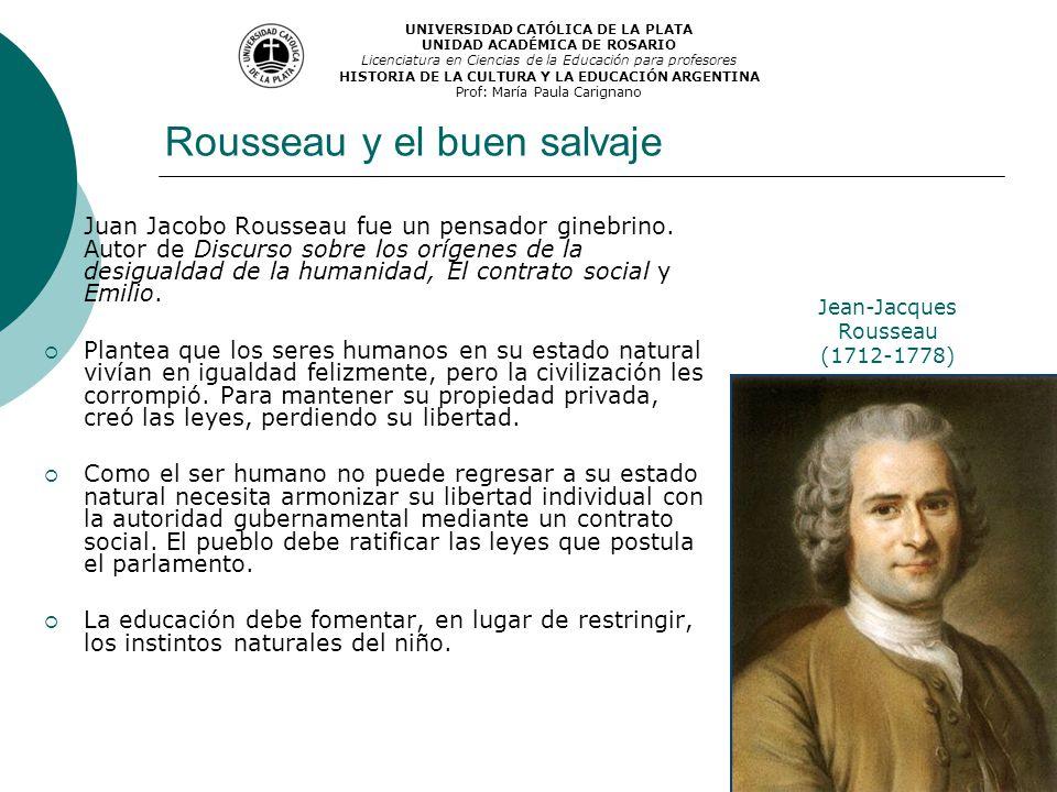 Rousseau y el buen salvaje