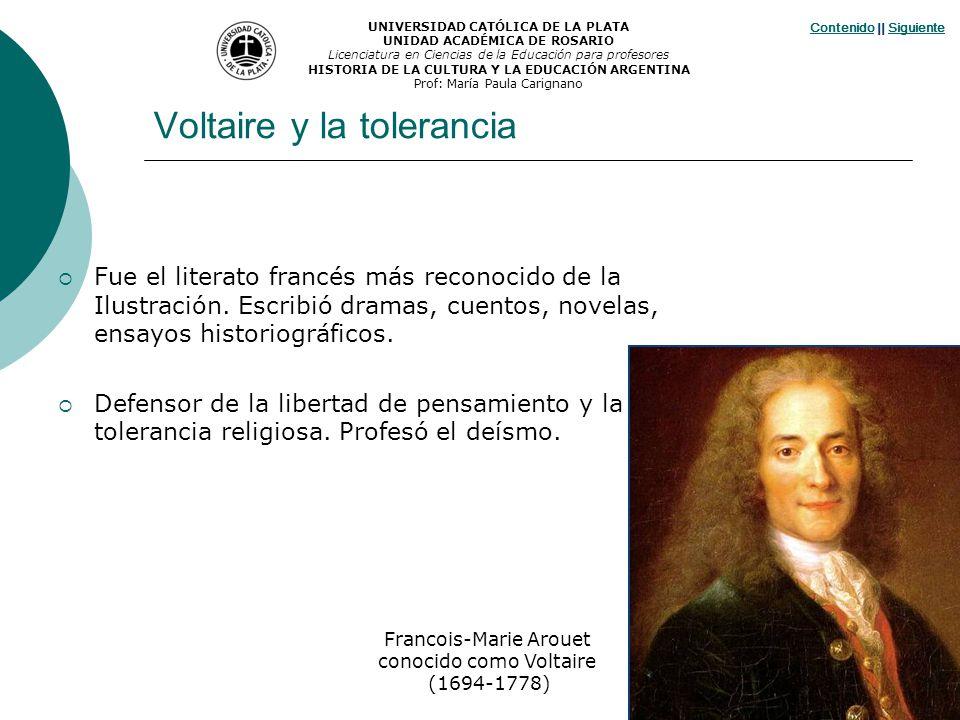 Voltaire y la tolerancia