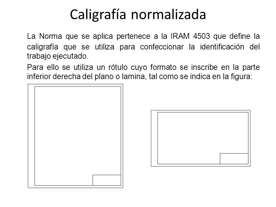 Caligrafía normalizada
