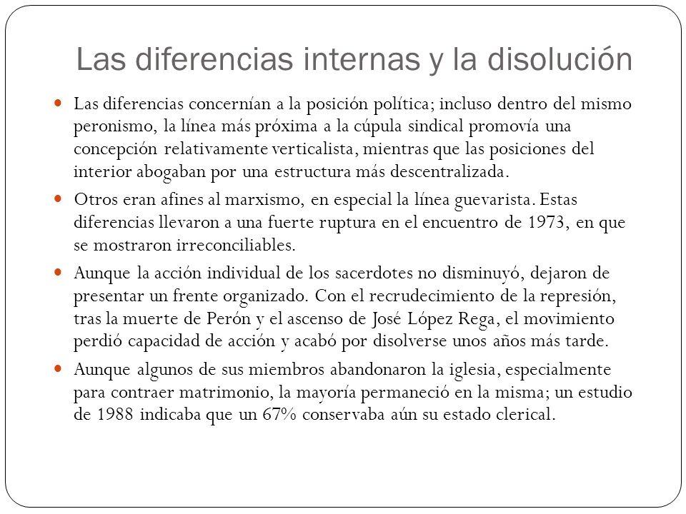 Las diferencias internas y la disolución