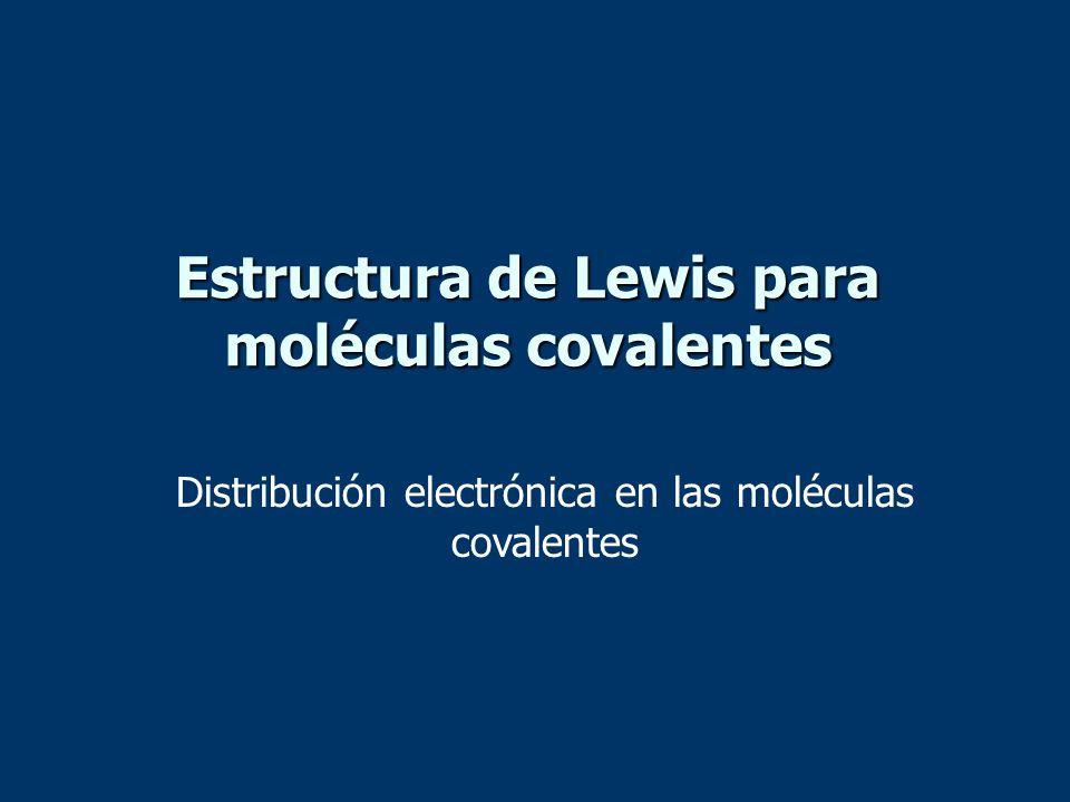 Estructura de Lewis para moléculas covalentes