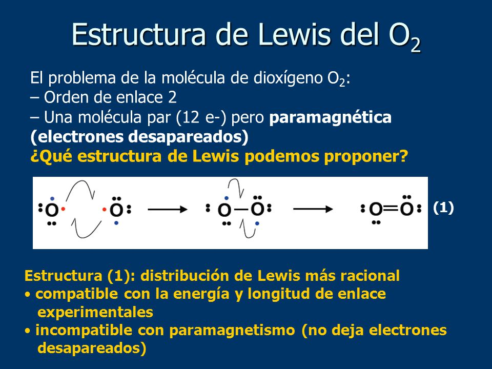 Estructura de Lewis del O2