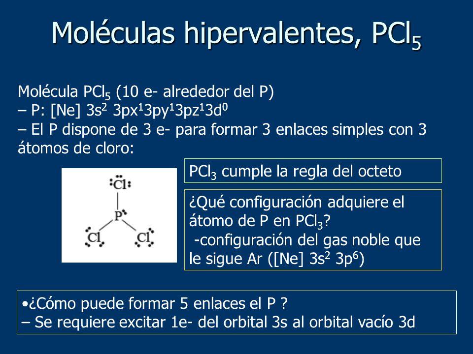Moléculas hipervalentes, PCl5