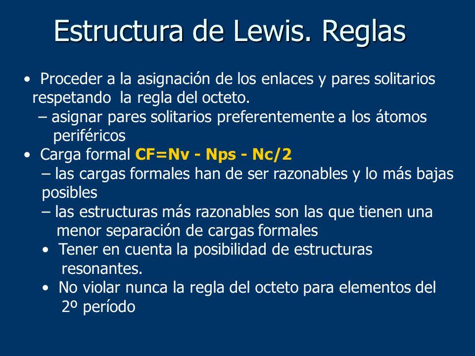 Estructura de Lewis. Reglas