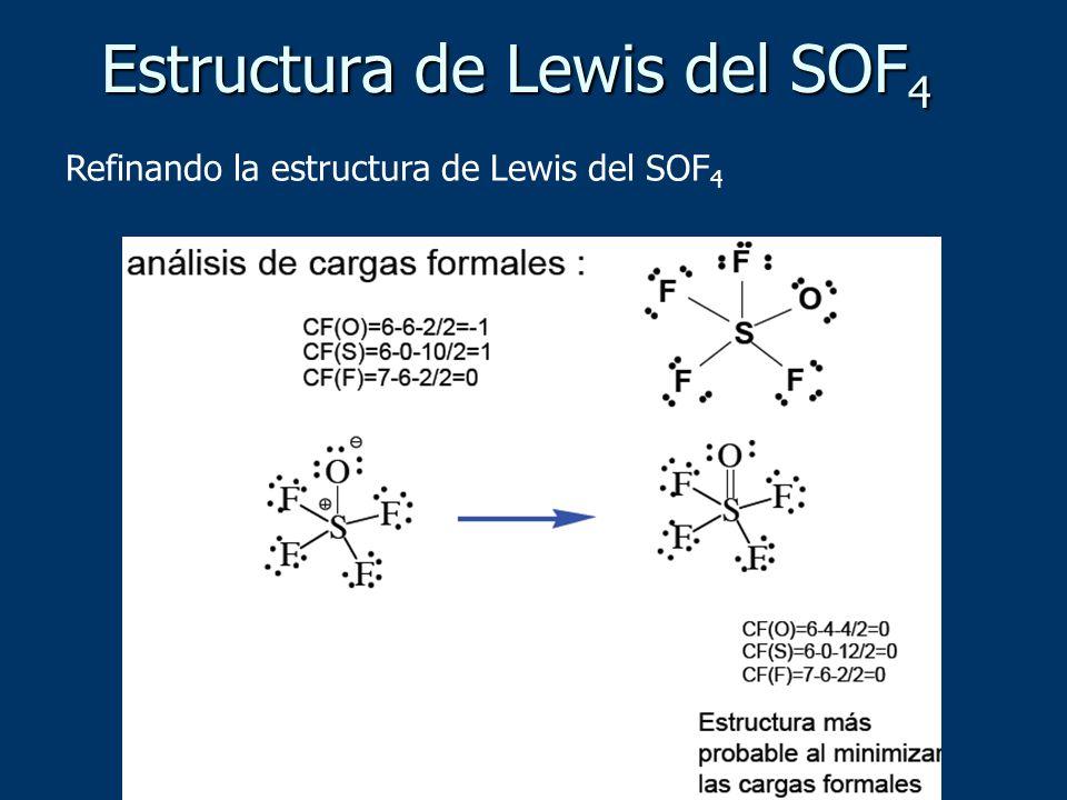 Estructura de Lewis del SOF4