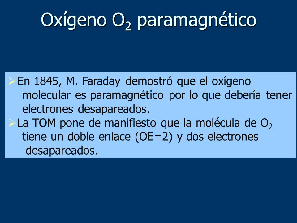Oxígeno O2 paramagnético