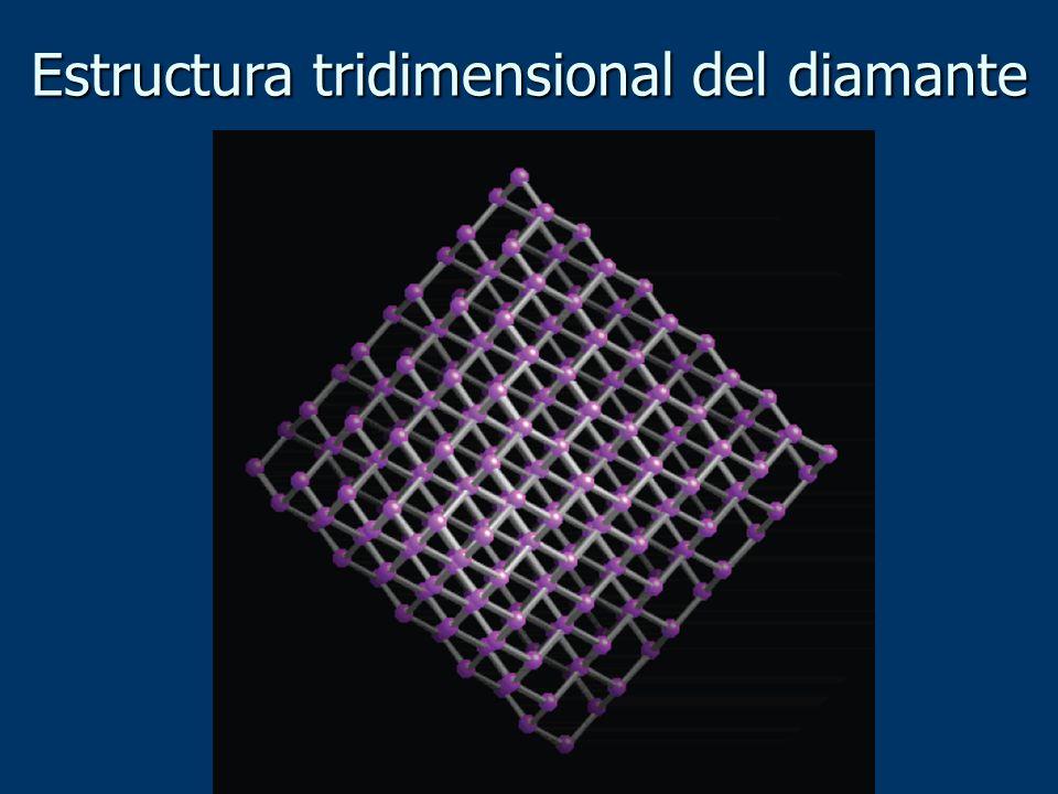 Estructura tridimensional del diamante
