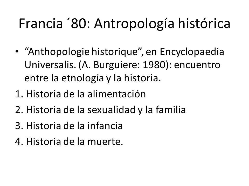 Francia ´80: Antropología histórica