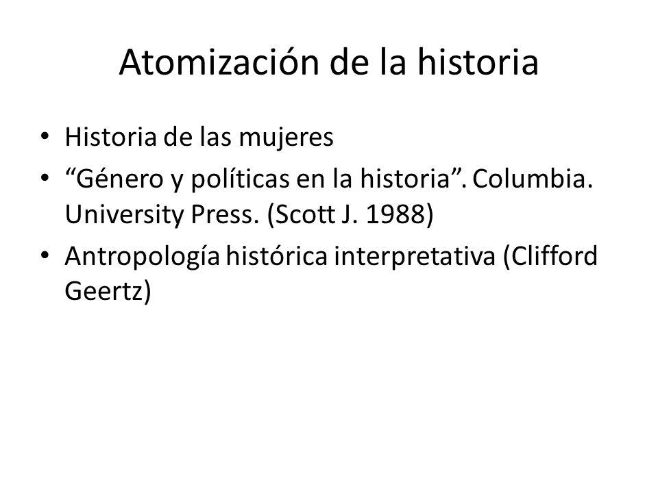 Atomización de la historia