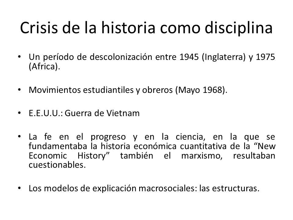 Crisis de la historia como disciplina
