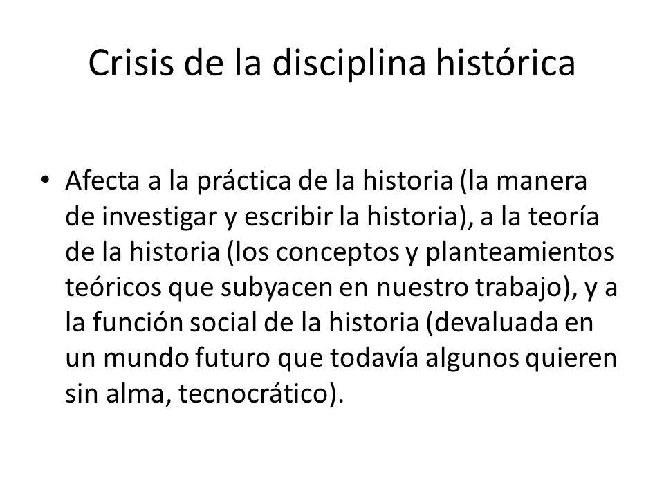 Crisis de la disciplina histórica