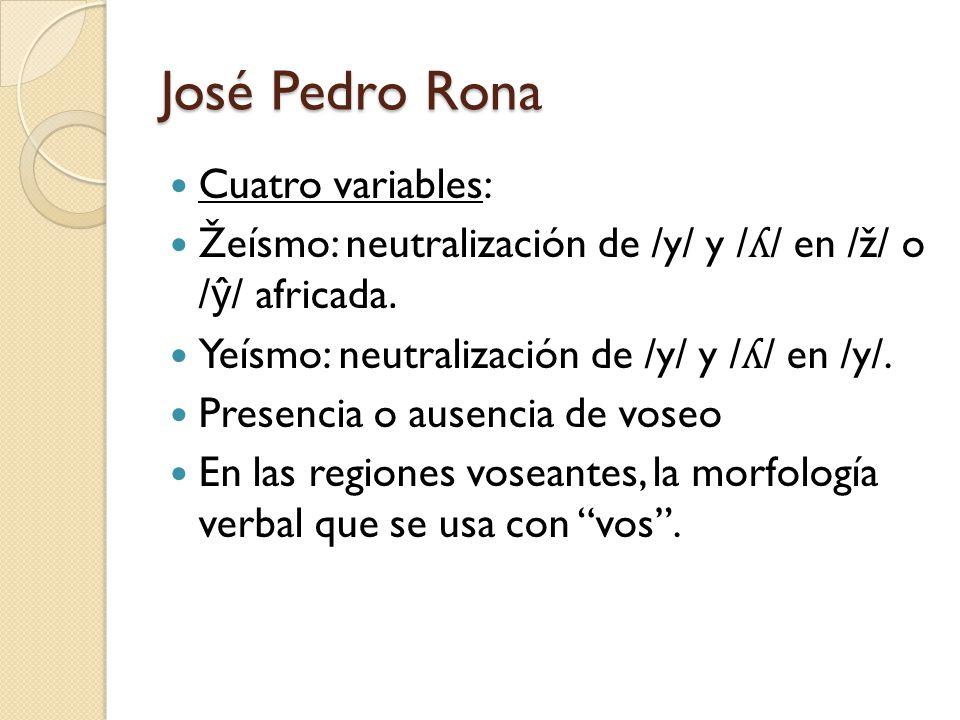 José Pedro Rona Cuatro variables: