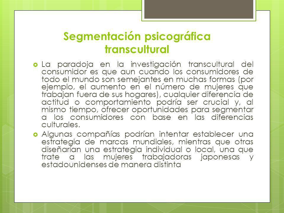 Segmentación psicográfica transcultural