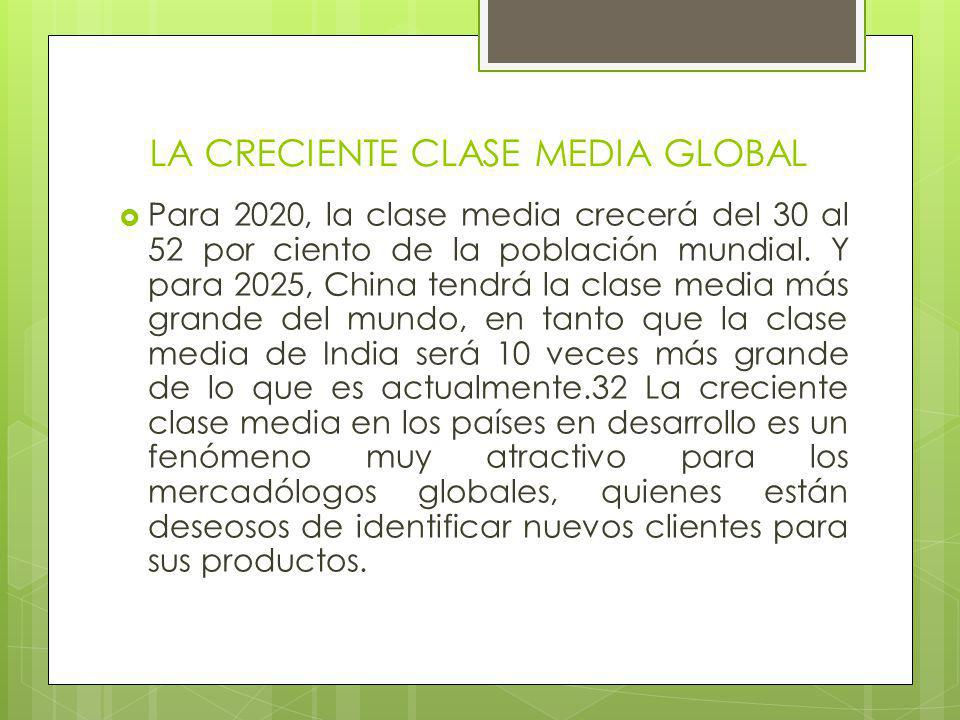 LA CRECIENTE CLASE MEDIA GLOBAL