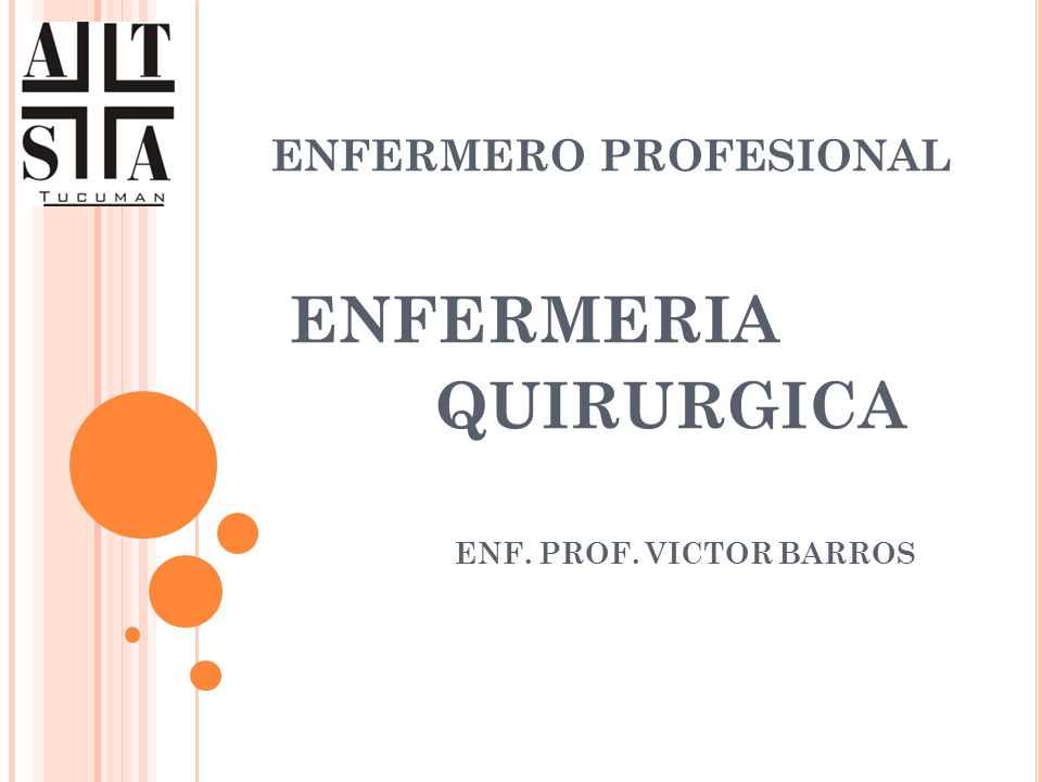 ENFERMERO PROFESIONAL