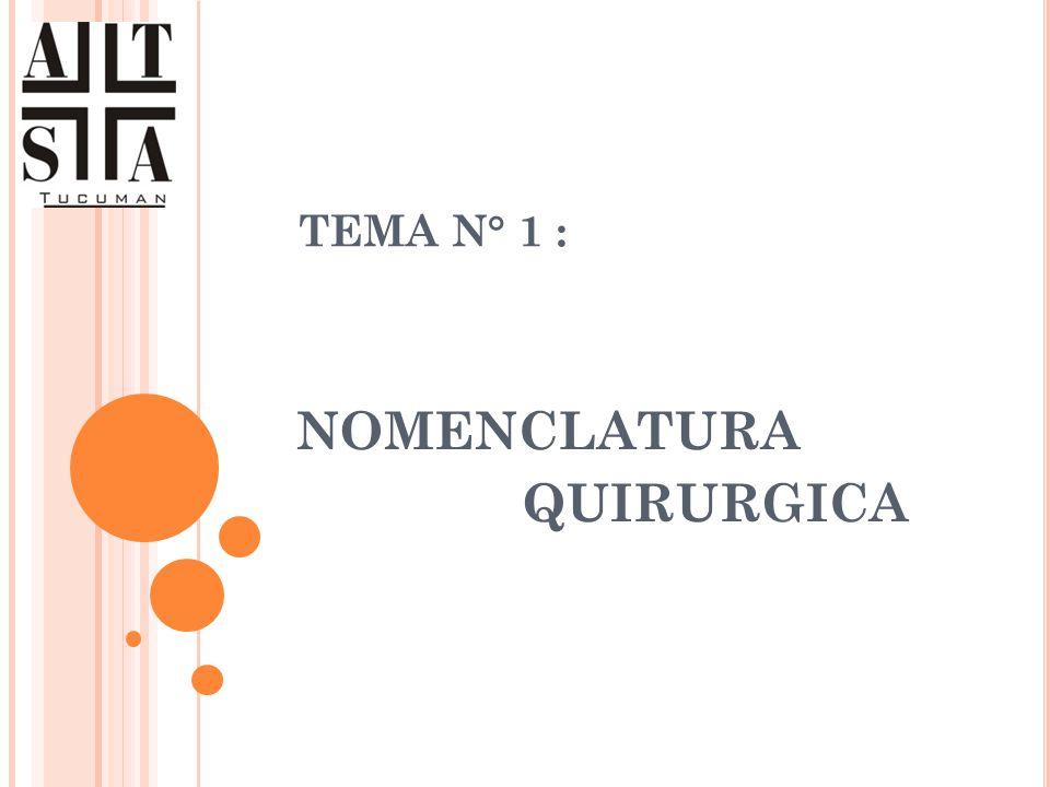 NOMENCLATURA QUIRURGICA