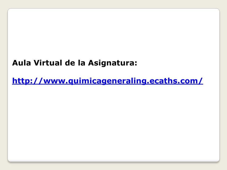 Aula Virtual de la Asignatura: