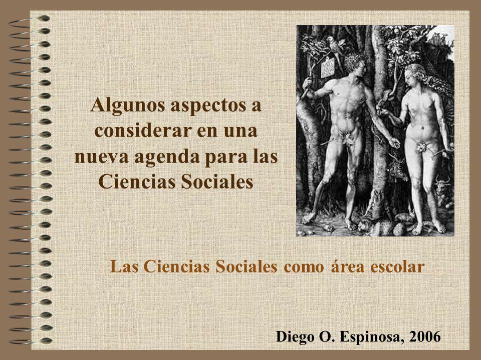 Las Ciencias Sociales como área escolar