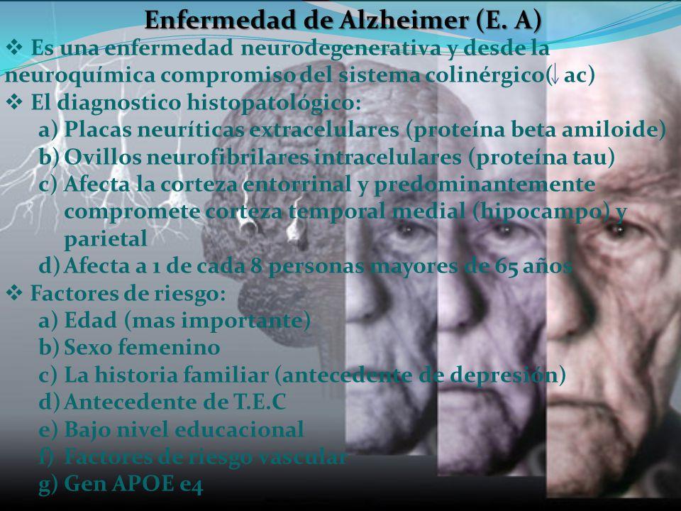 Enfermedad de Alzheimer (E. A)