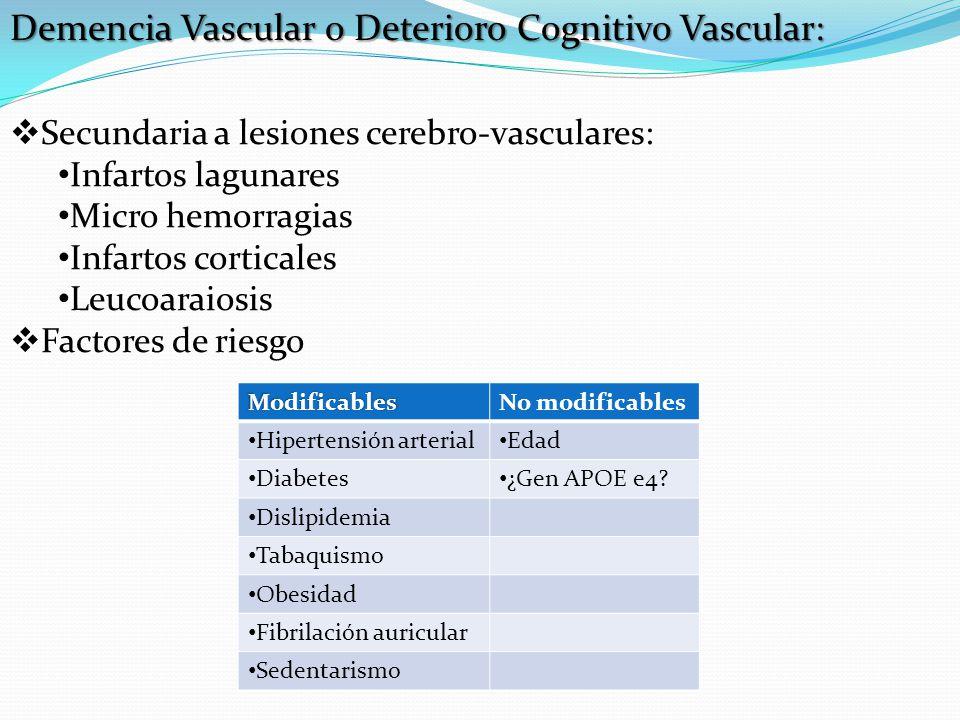 Demencia Vascular o Deterioro Cognitivo Vascular: