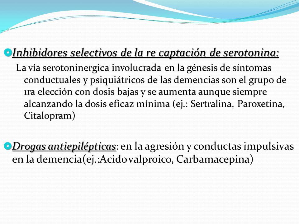 Inhibidores selectivos de la re captación de serotonina: