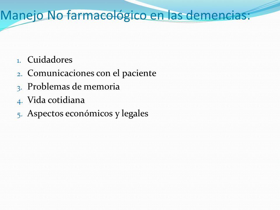 Manejo No farmacológico en las demencias: