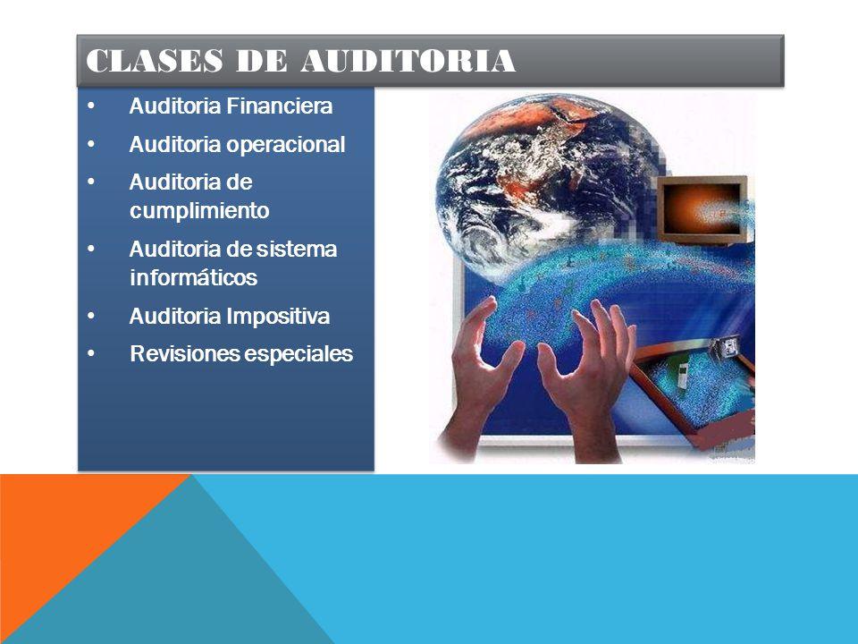 Clases de auditoria Auditoria Financiera Auditoria operacional