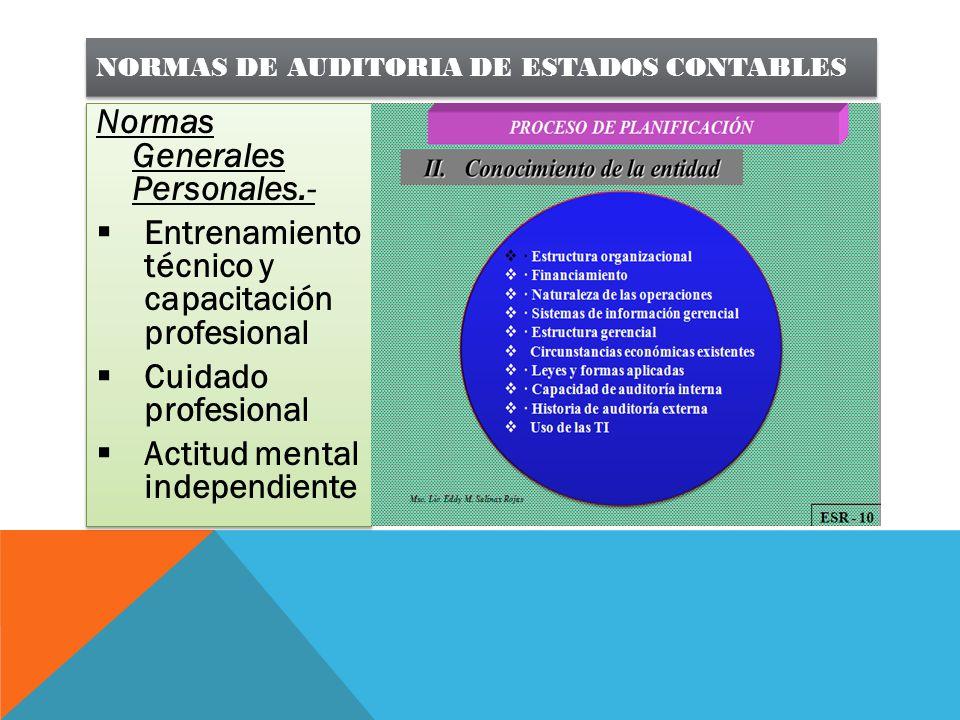 NORMAS DE AUDITORIA DE ESTADOS CONTABLES