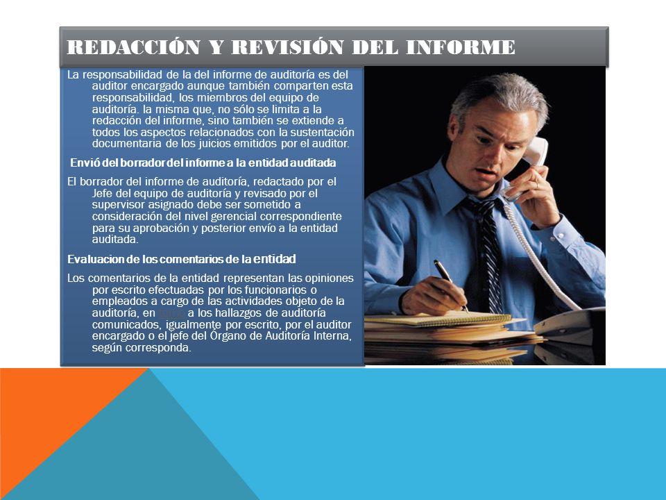 Redacción y revisión del informe