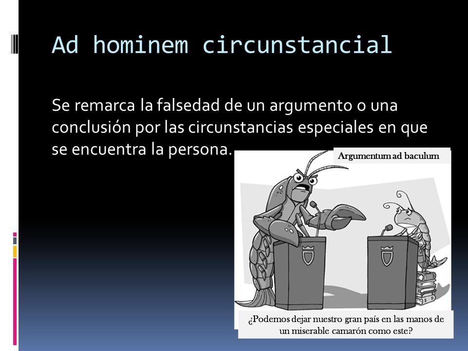 Ad hominem circunstancial