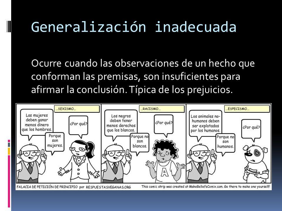 Generalización inadecuada