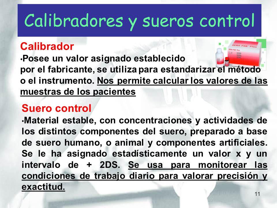 Calibradores y sueros control