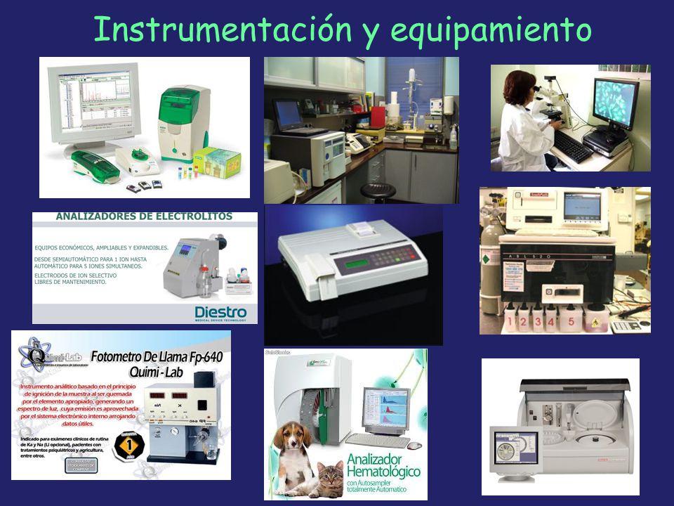 Instrumentación y equipamiento