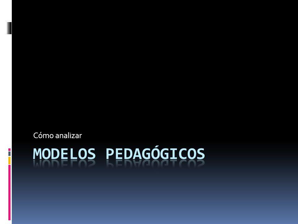 Cómo analizar MODELOS PEDAGÓGICOS