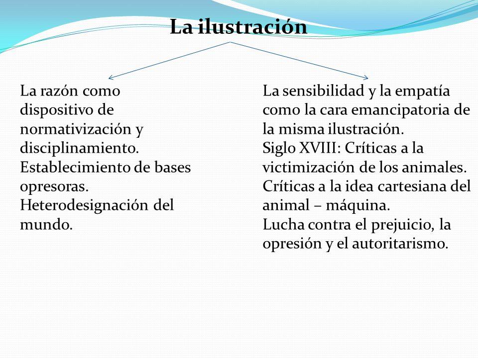 La ilustración La razón como dispositivo de normativización y disciplinamiento. Establecimiento de bases opresoras.