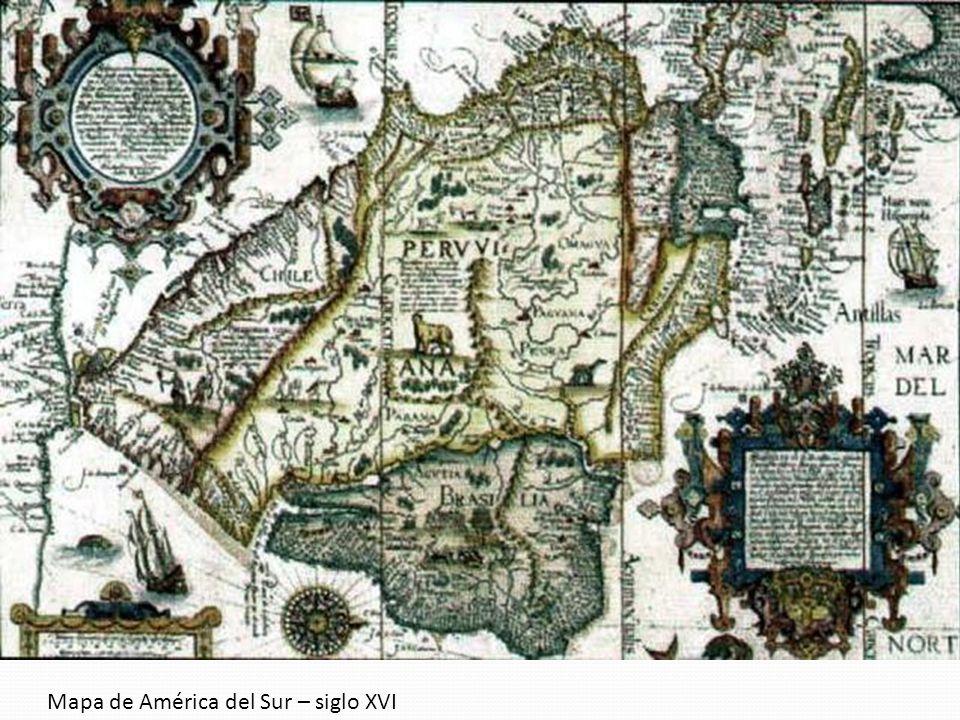 Mapa de América del Sur – siglo XVI