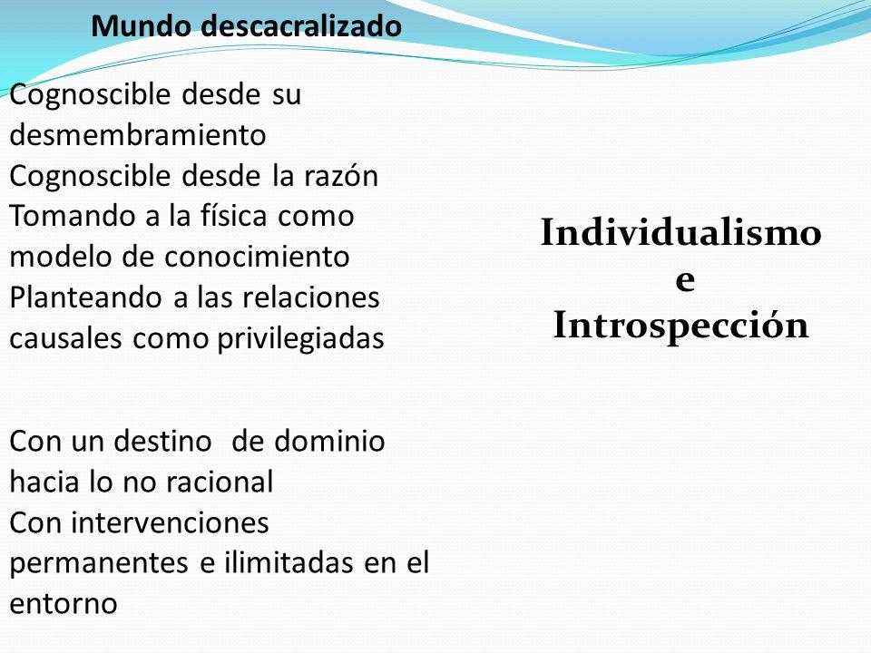 Individualismo e Introspección