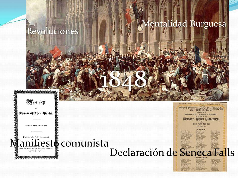 1848 Manifiesto comunista Declaración de Seneca Falls