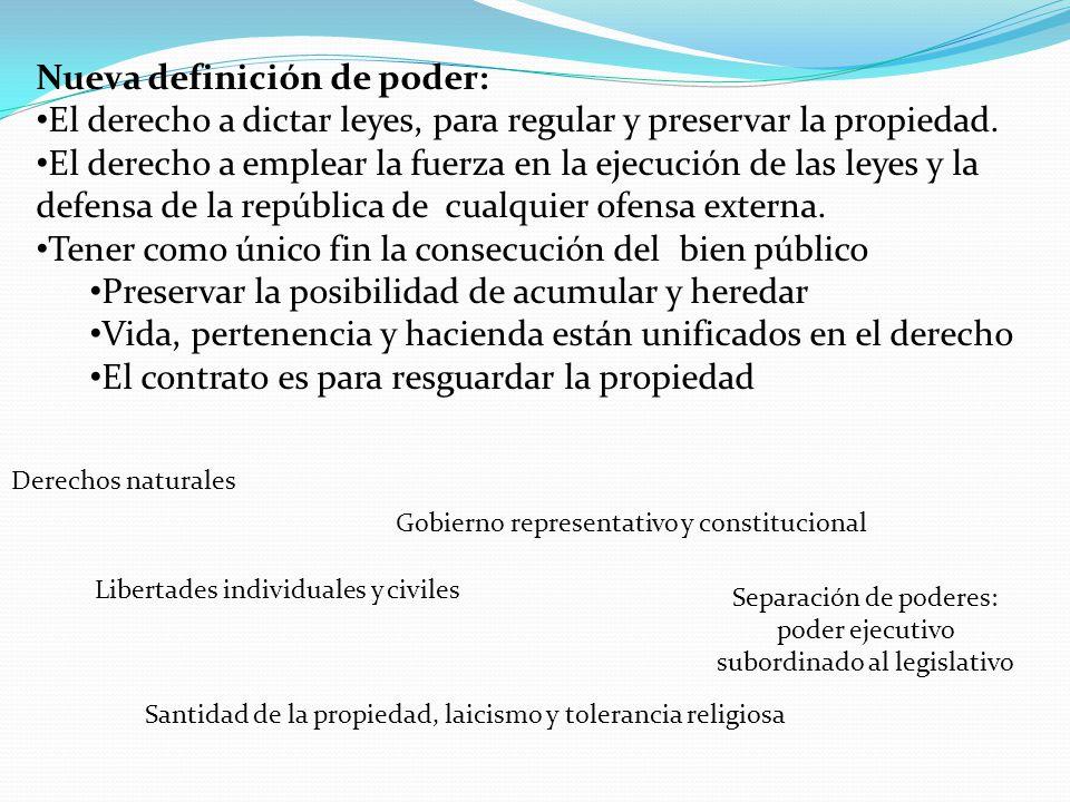 Separación de poderes: poder ejecutivo subordinado al legislativo