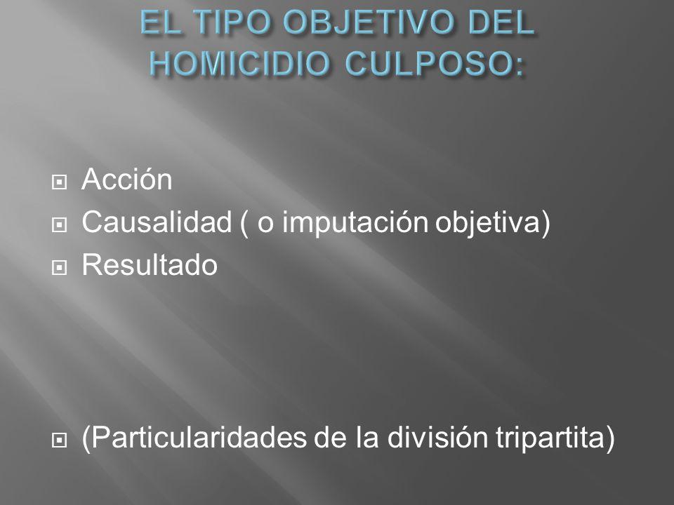 EL TIPO OBJETIVO DEL HOMICIDIO CULPOSO: